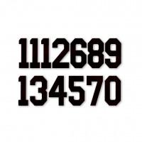 Цифра  № 6  черн