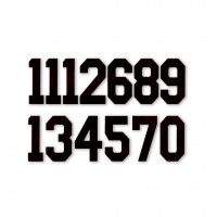 Цифра  № 9  черн